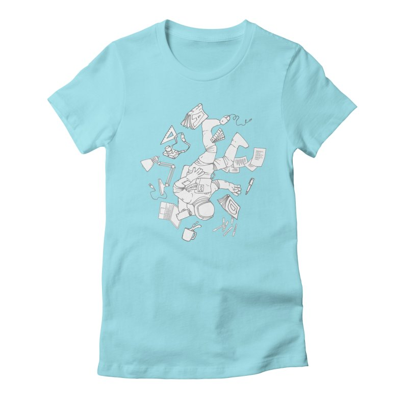 Space Studies Women's Fitted T-Shirt by Freehand