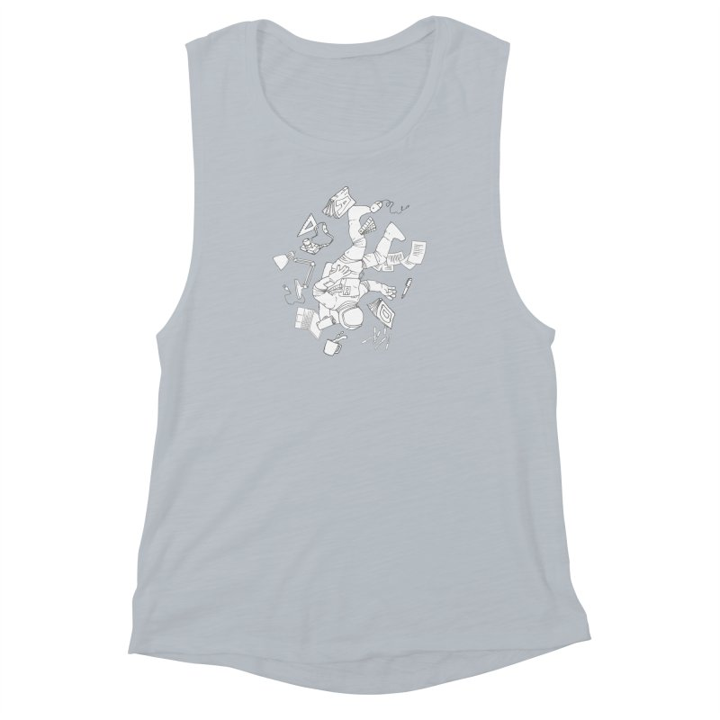 Space Studies Women's Muscle Tank by Freehand