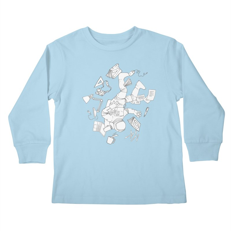 Space Studies Kids Longsleeve T-Shirt by Freehand