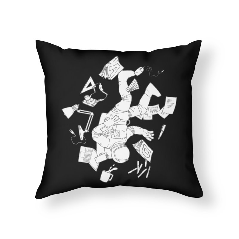 Space Studies Home Throw Pillow by Freehand