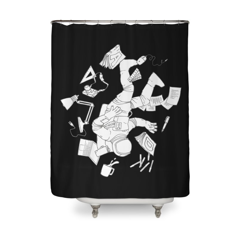 Space Studies Home Shower Curtain by Freehand