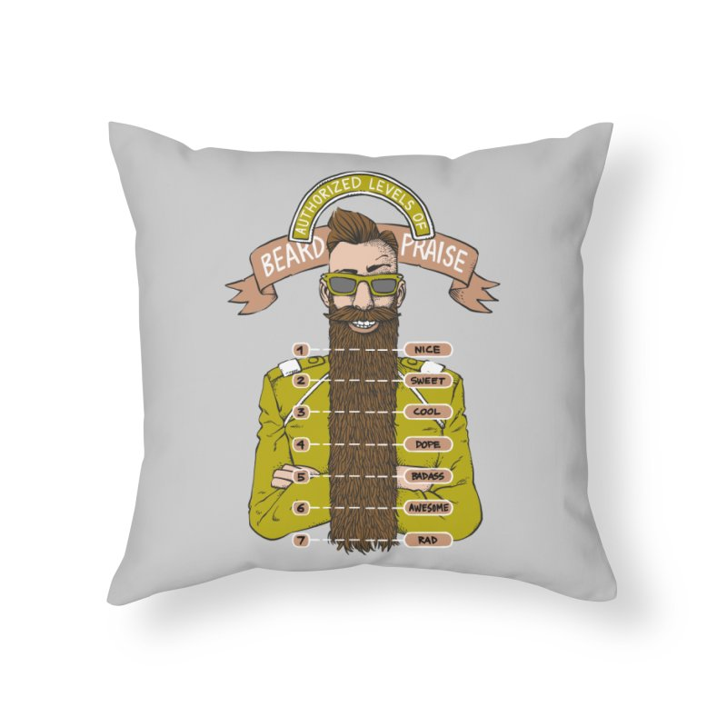 Beard Praise Home Throw Pillow by Freehand