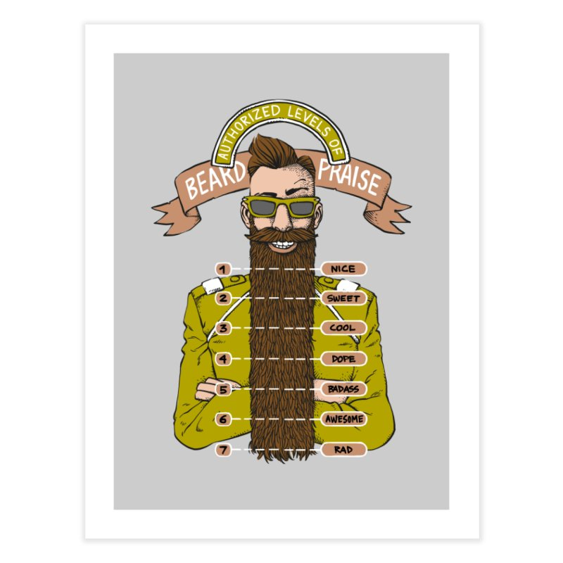 Beard Praise Home Fine Art Print by Freehand