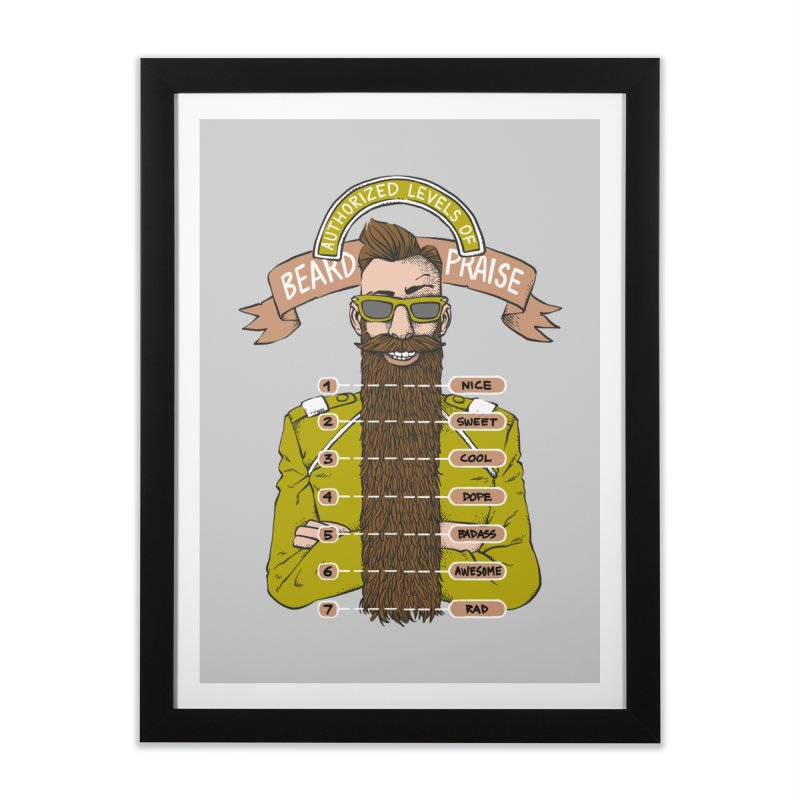 Beard Praise Home Framed Fine Art Print by Freehand