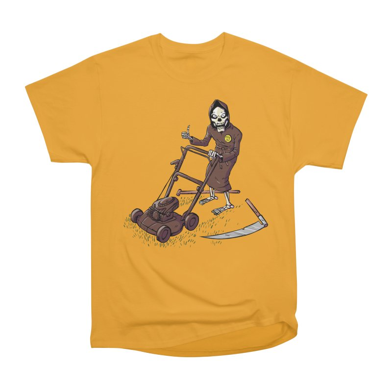 Mow On Men's Heavyweight T-Shirt by Freehand