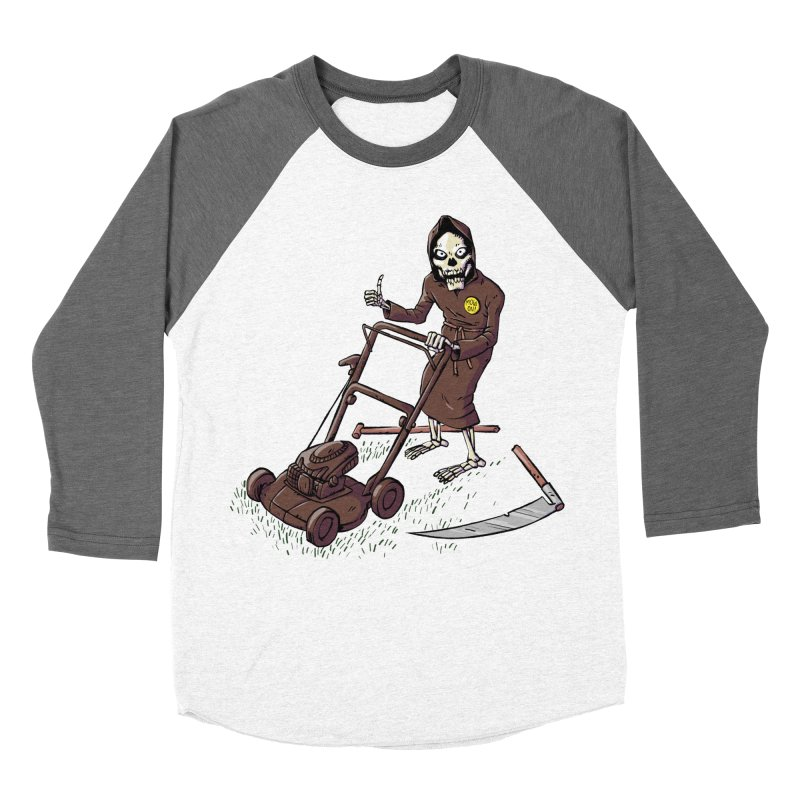 Mow On Men's Baseball Triblend Longsleeve T-Shirt by Freehand