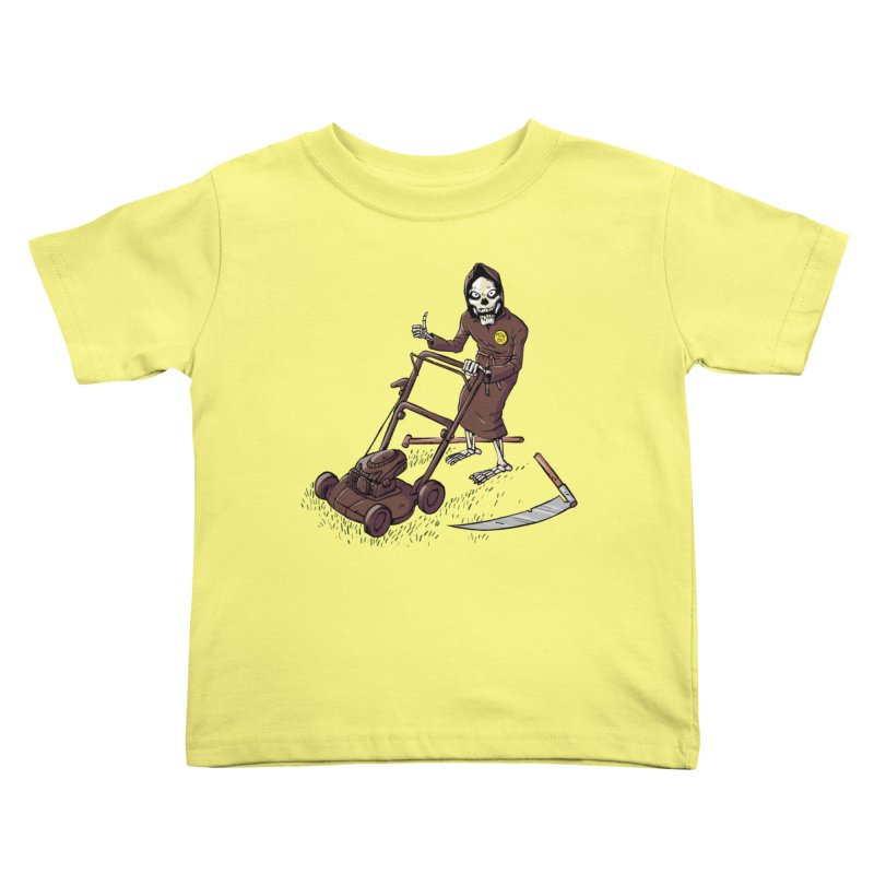 Mow On Kids Toddler T-Shirt by Freehand