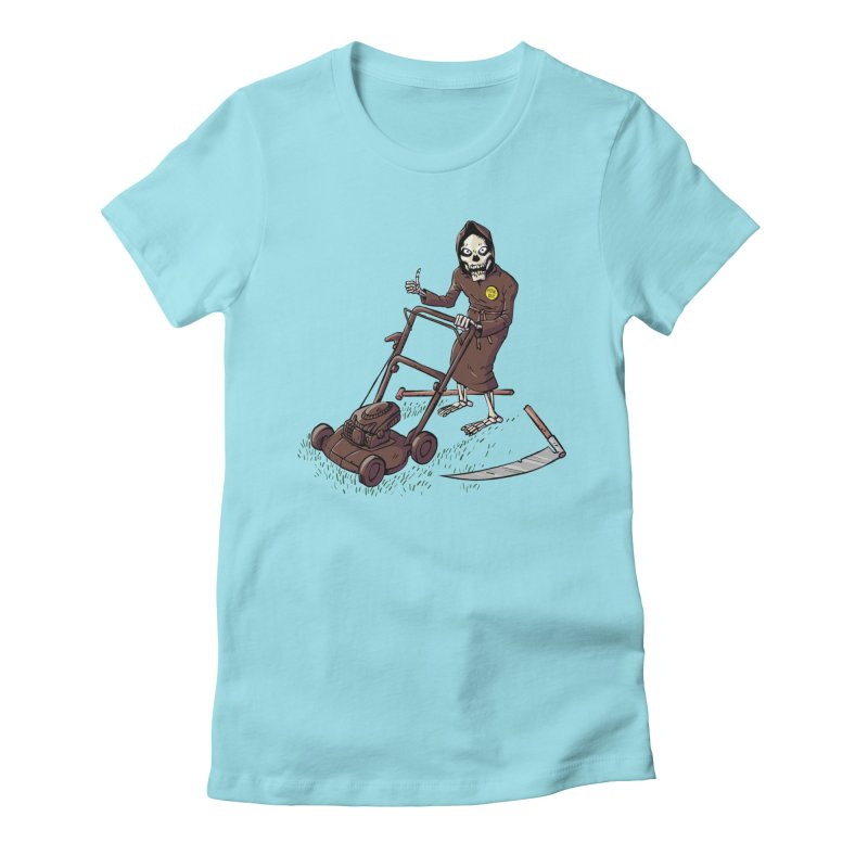 Mow On Women's Fitted T-Shirt by Freehand