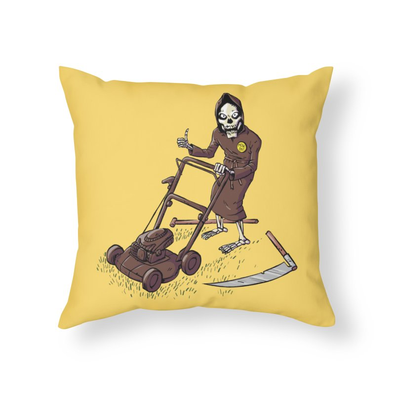 Mow On Home Throw Pillow by Freehand