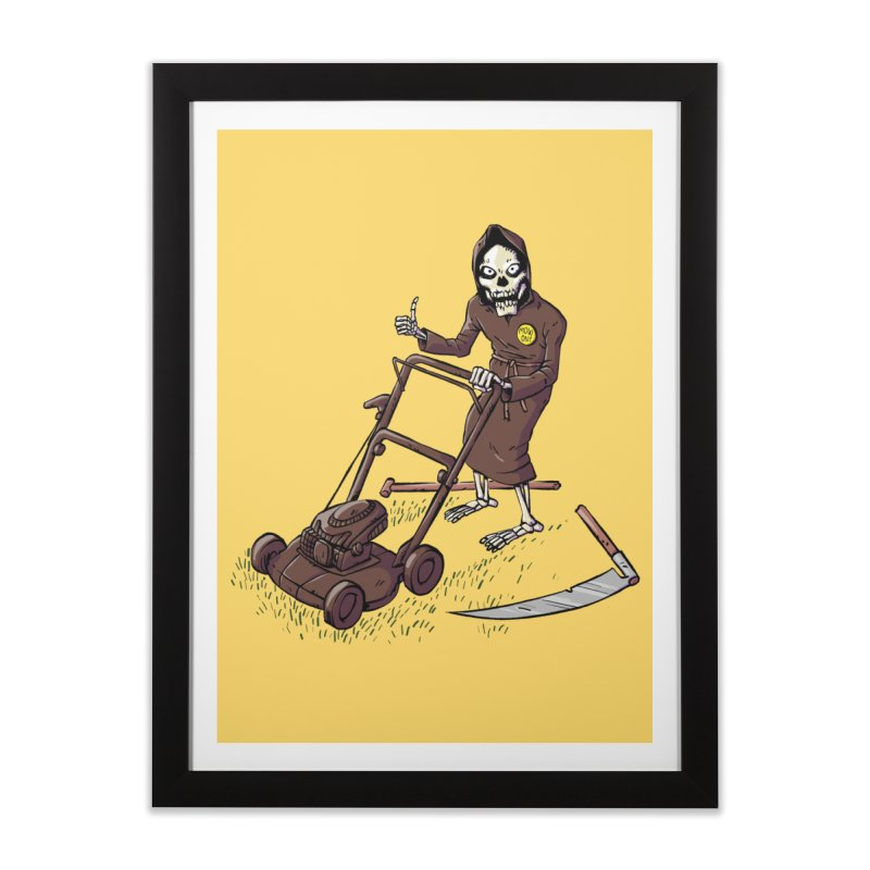 Mow On Home Framed Fine Art Print by Freehand