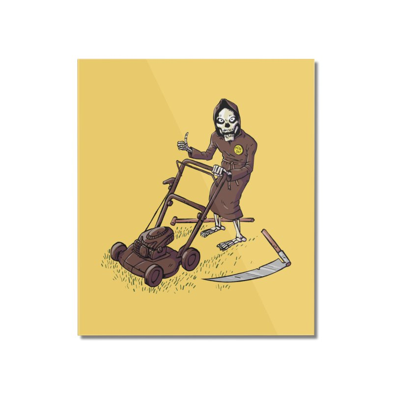 Mow On Home Mounted Acrylic Print by Freehand