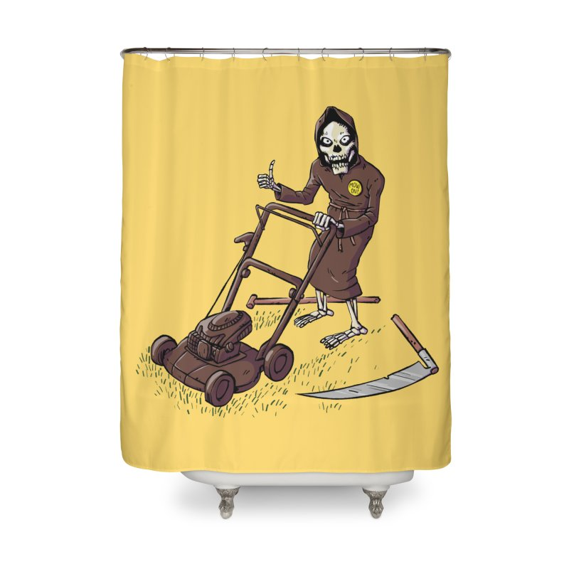 Mow On Home Shower Curtain by Freehand