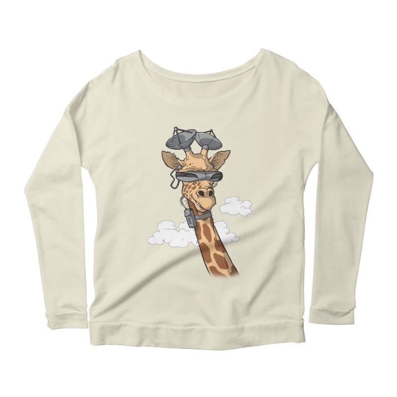 High Tech Animal Women's Scoop Neck Longsleeve T-Shirt by Freehand