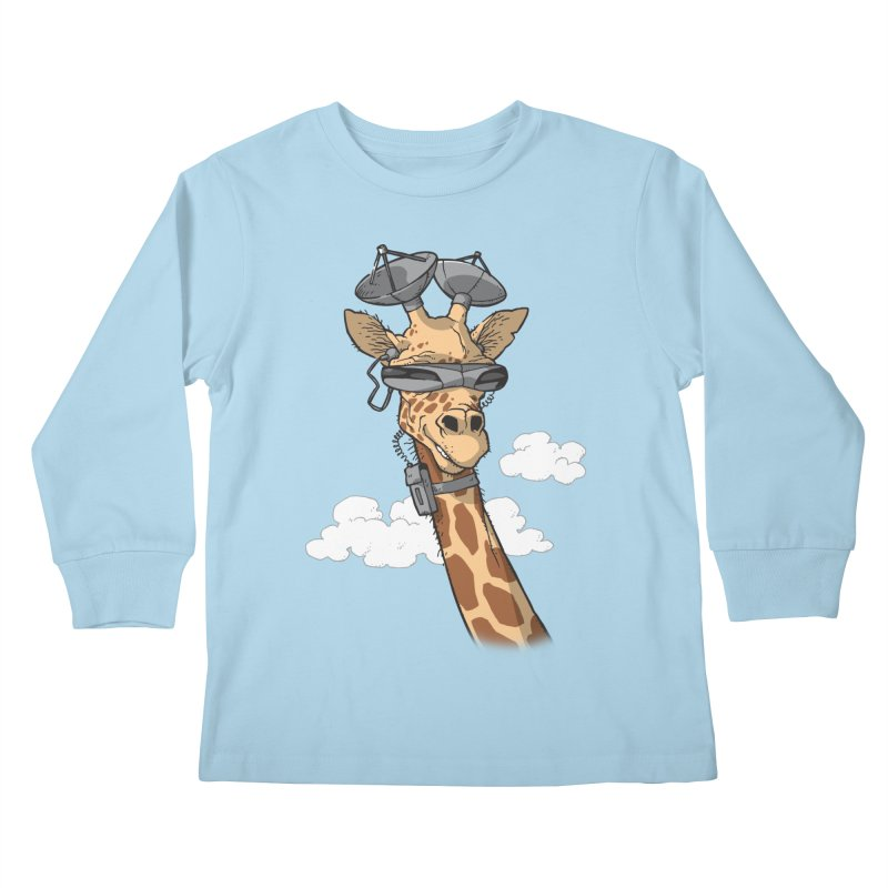 High Tech Animal Kids Longsleeve T-Shirt by Freehand