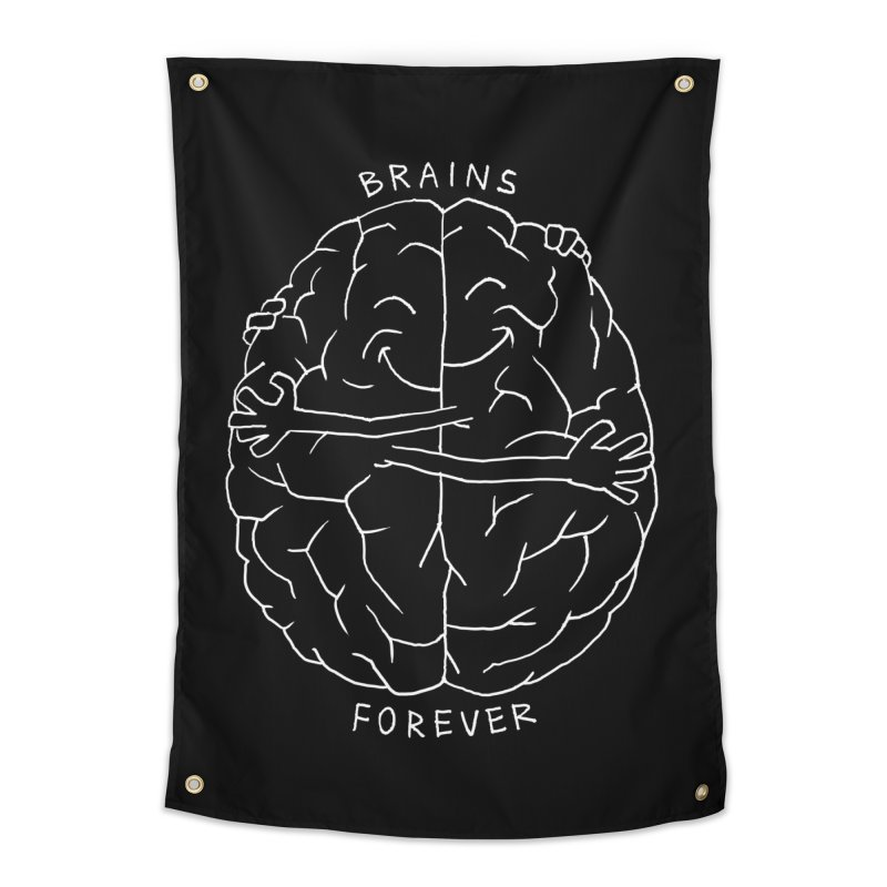Brains Forever Home Tapestry by Freehand