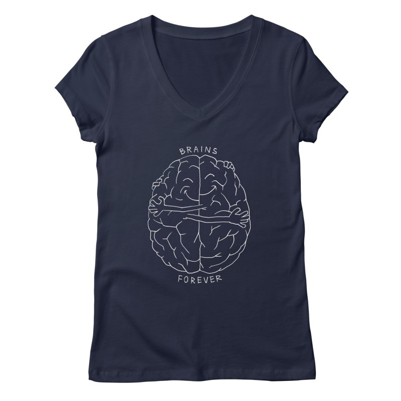 Brains Forever Women's V-Neck by Freehand