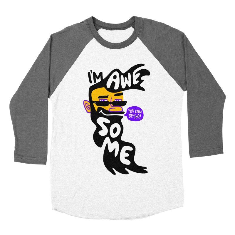 Beard Wisdom Men's Baseball Triblend Longsleeve T-Shirt by Freehand