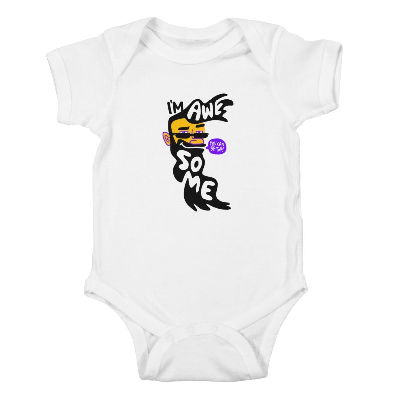 Beard Wisdom Kids Baby Bodysuit by Freehand