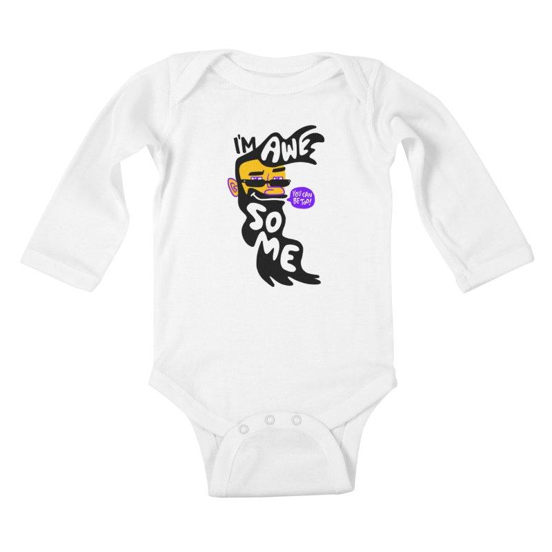 Beard Wisdom Kids Baby Longsleeve Bodysuit by Freehand