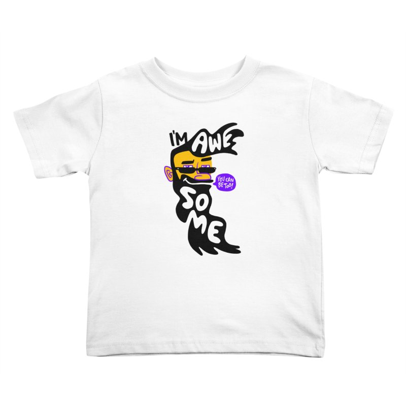 Beard Wisdom Kids Toddler T-Shirt by Freehand