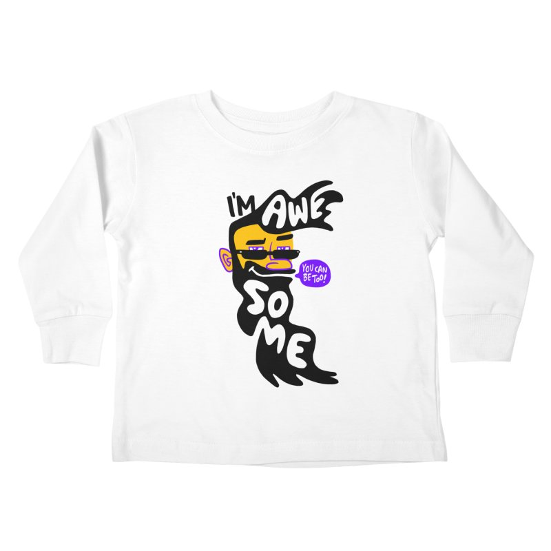 Beard Wisdom Kids Toddler Longsleeve T-Shirt by Freehand