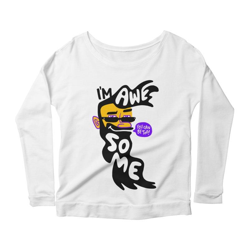 Beard Wisdom Women's Scoop Neck Longsleeve T-Shirt by Freehand