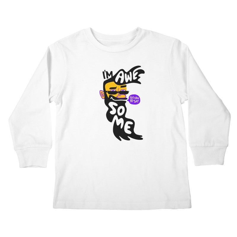 Beard Wisdom Kids Longsleeve T-Shirt by Freehand