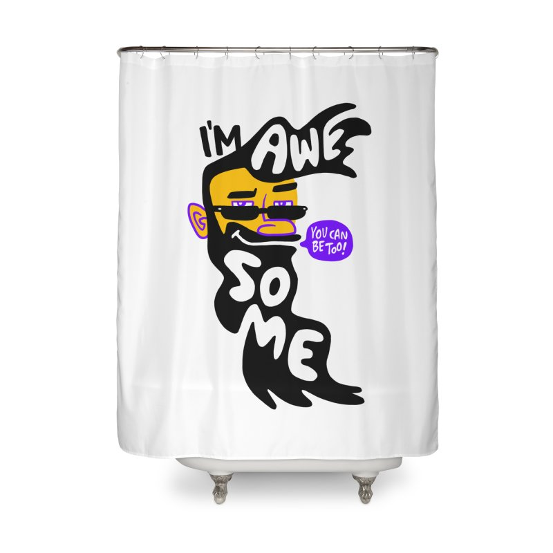 Beard Wisdom Home Shower Curtain by Freehand