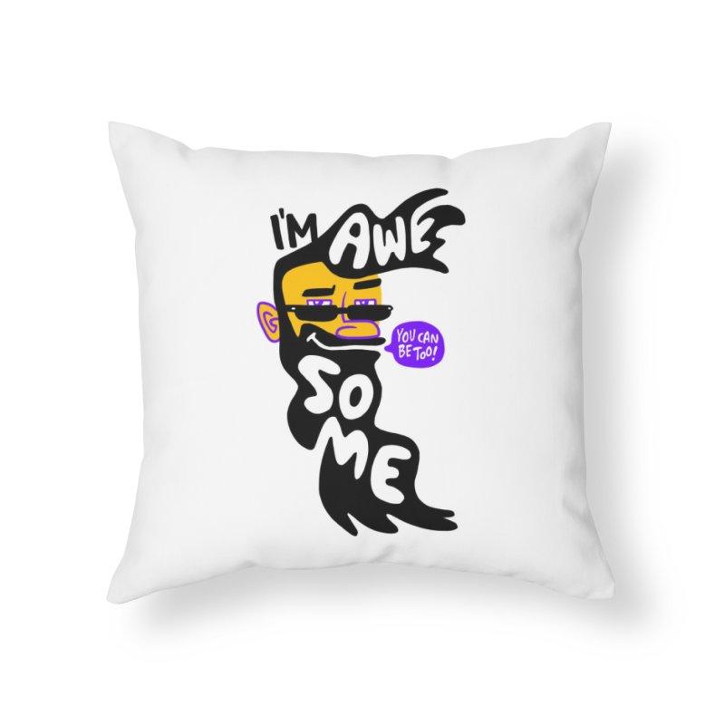 Beard Wisdom Home Throw Pillow by Freehand
