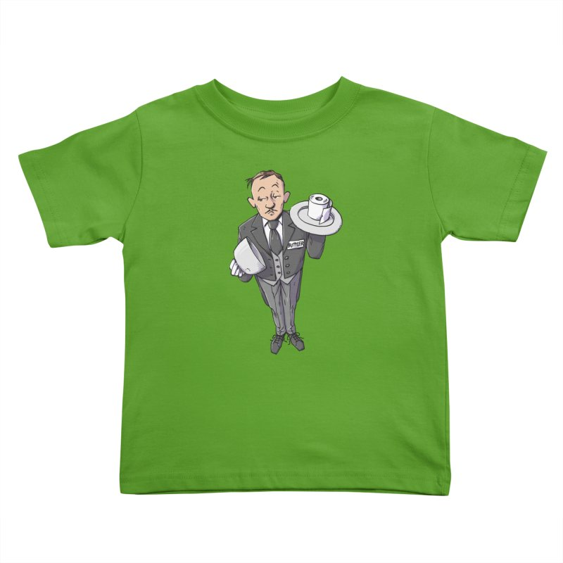Buttler Kids Toddler T-Shirt by Freehand