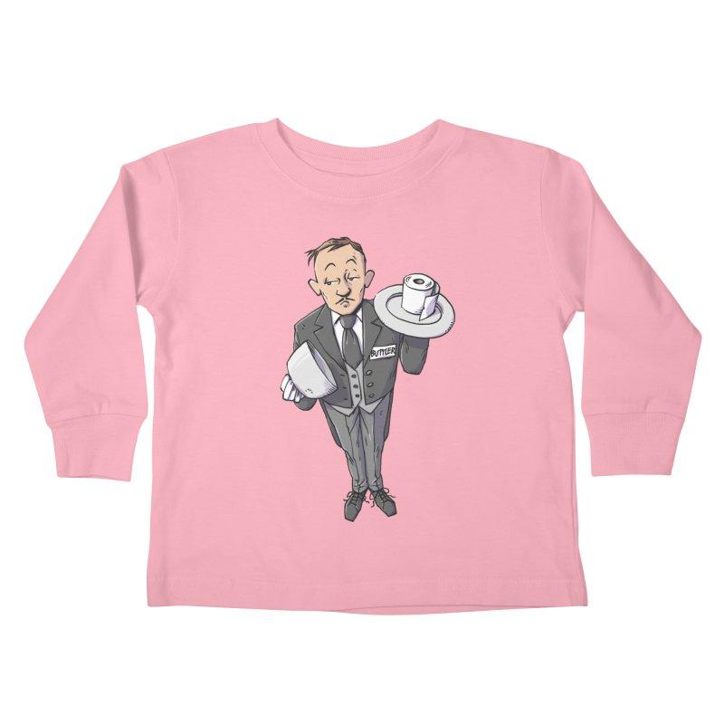 Buttler Kids Toddler Longsleeve T-Shirt by Freehand