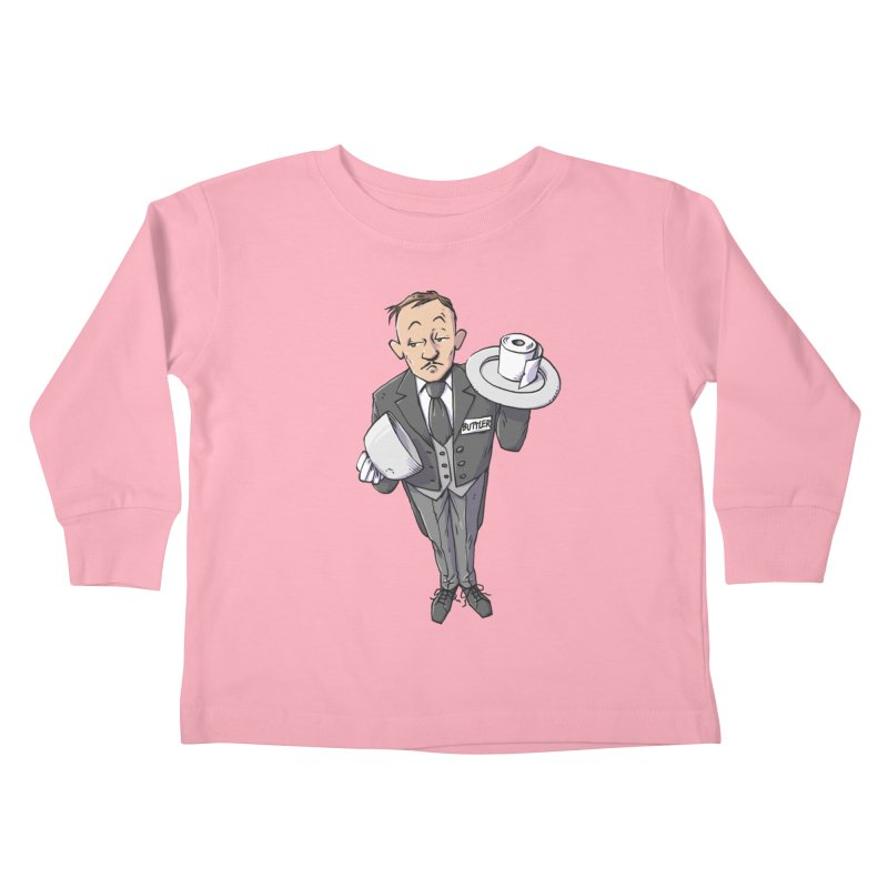 Buttler Kids Toddler Longsleeve T-Shirt by Freehand