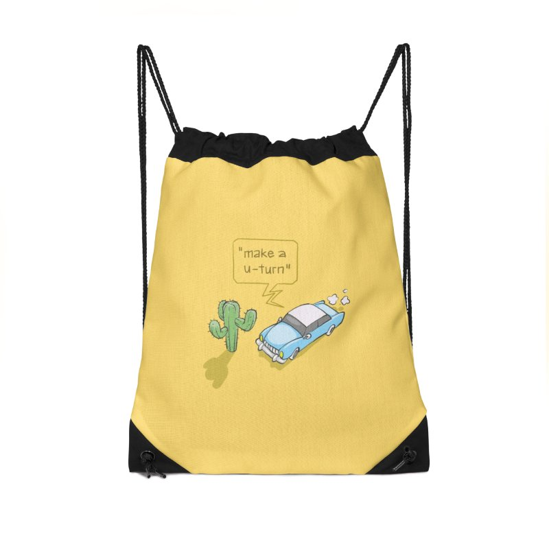 Point Of Return Accessories Drawstring Bag Bag by Freehand