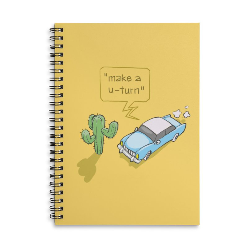 Point Of Return Accessories Lined Spiral Notebook by Freehand