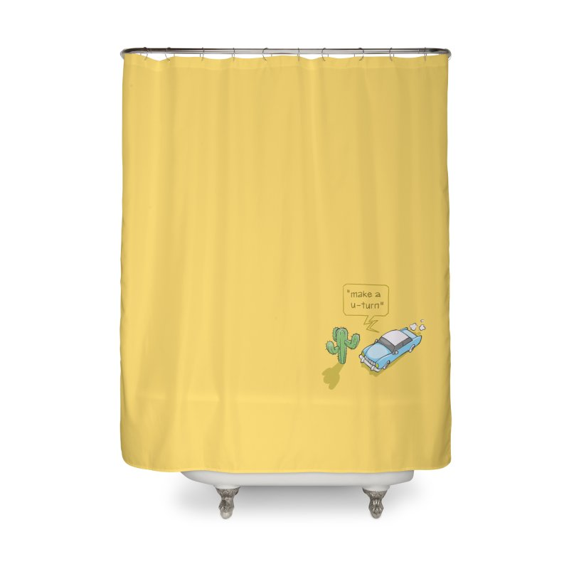 Point Of Return Home Shower Curtain by Freehand