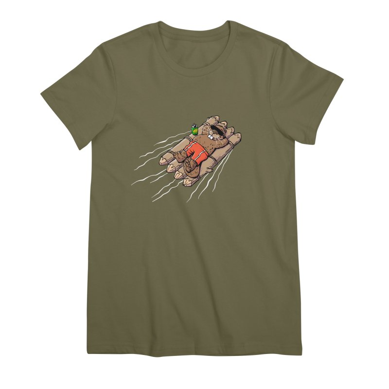 Beavacation Women's Premium T-Shirt by Freehand