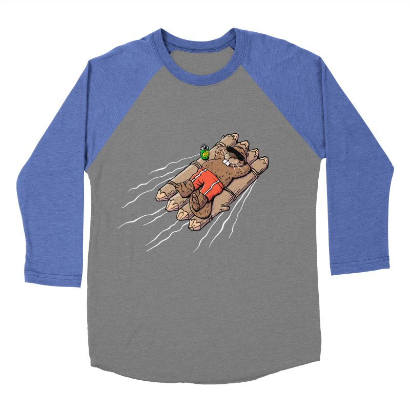 Beavacation Men's Baseball Triblend Longsleeve T-Shirt by Freehand