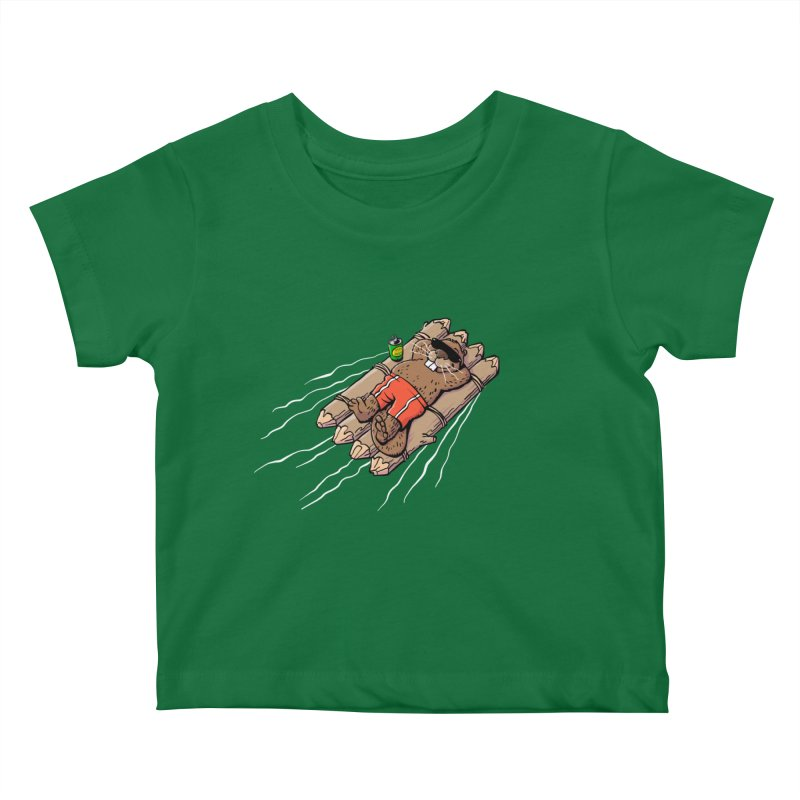 Beavacation Kids Baby T-Shirt by Freehand