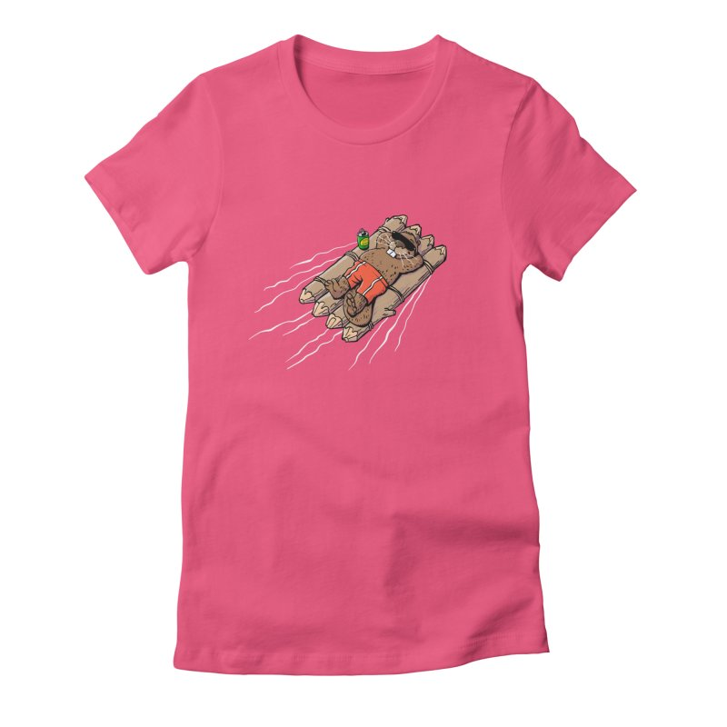 Beavacation Women's Fitted T-Shirt by Freehand