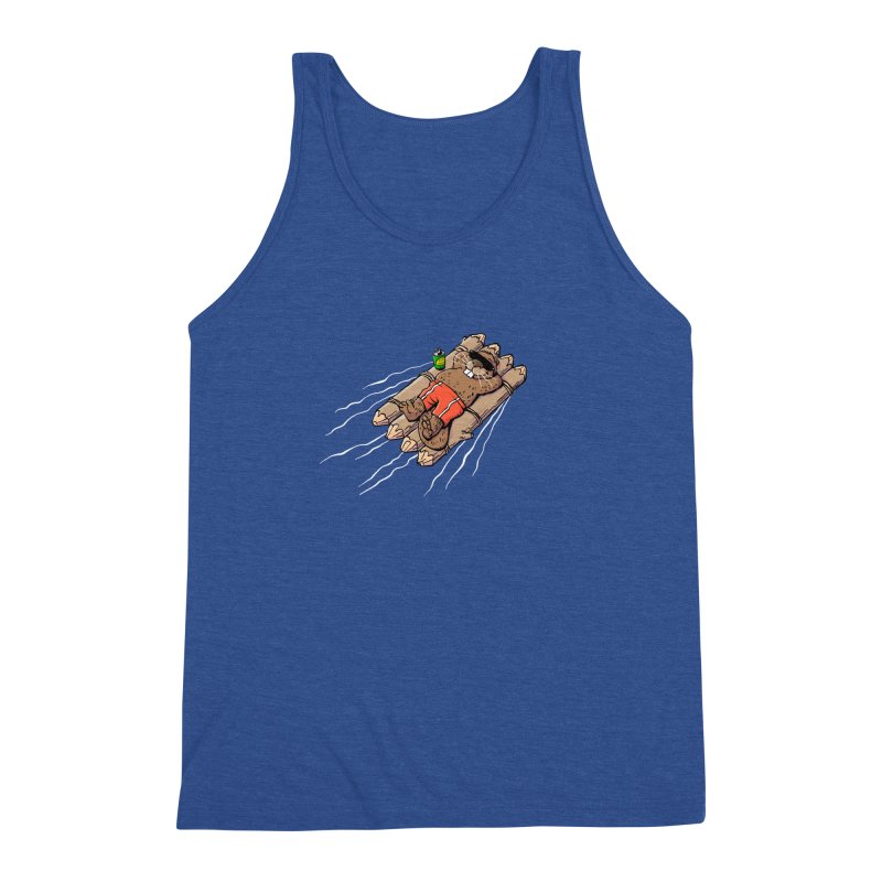 Beavacation Men's Triblend Tank by Freehand