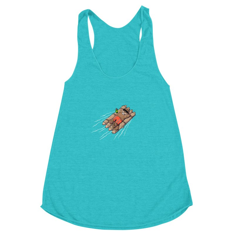 Beavacation Women's Racerback Triblend Tank by Freehand