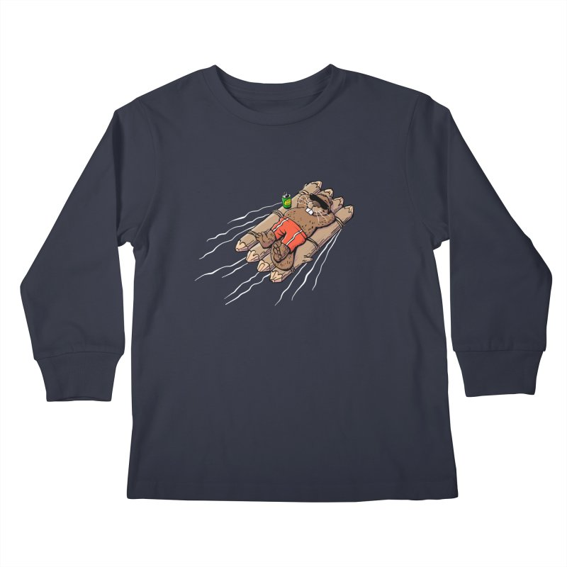 Beavacation Kids Longsleeve T-Shirt by Freehand