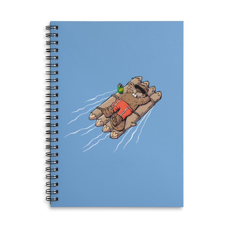 Beavacation Accessories Lined Spiral Notebook by Freehand