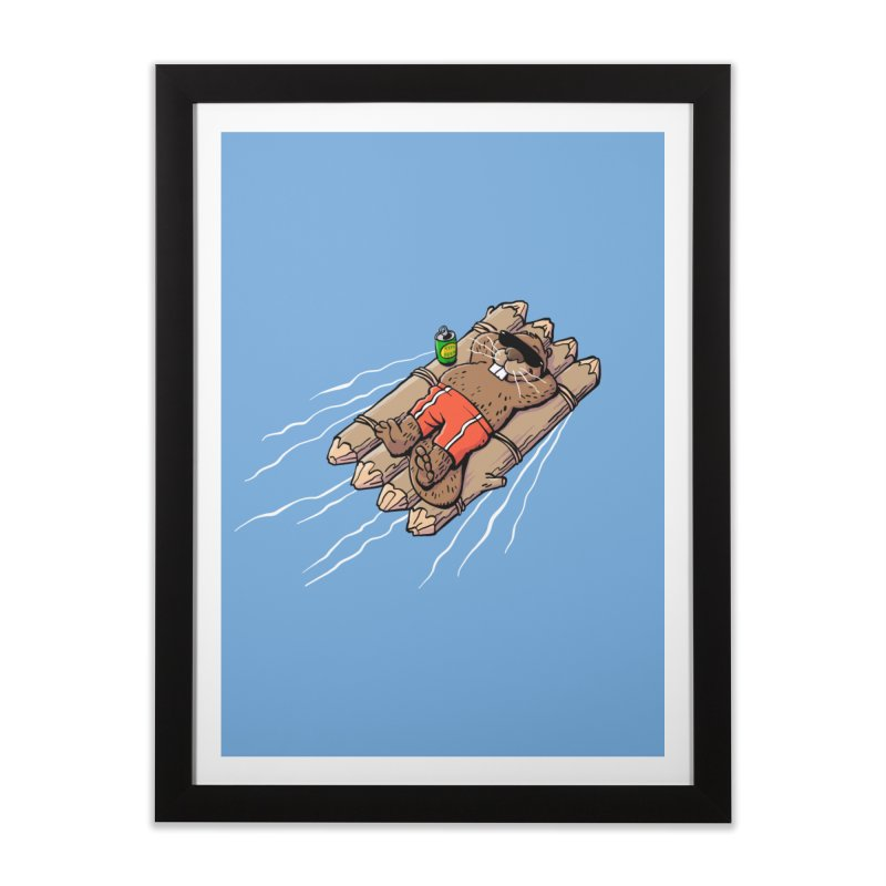 Beavacation Home Framed Fine Art Print by Freehand