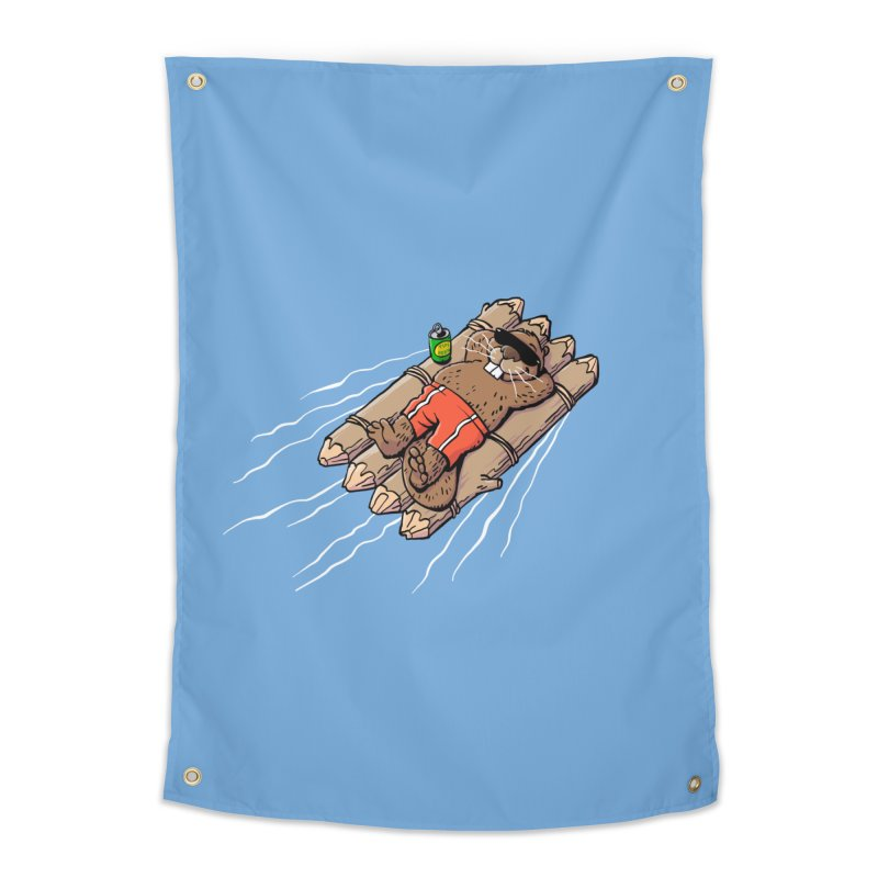 Beavacation Home Tapestry by Freehand