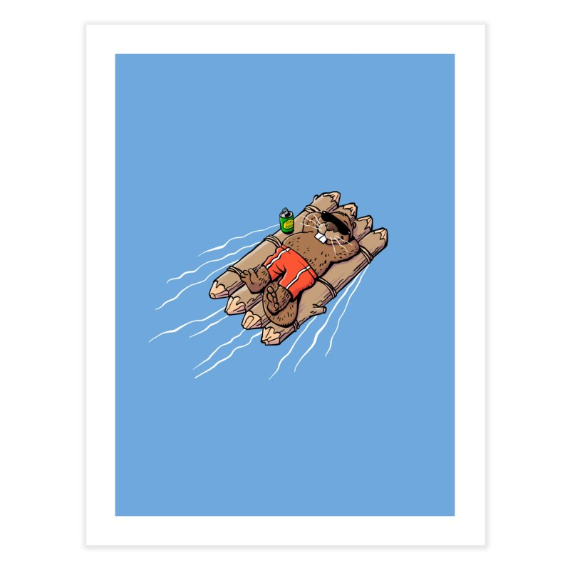 Beavacation Home Fine Art Print by Freehand