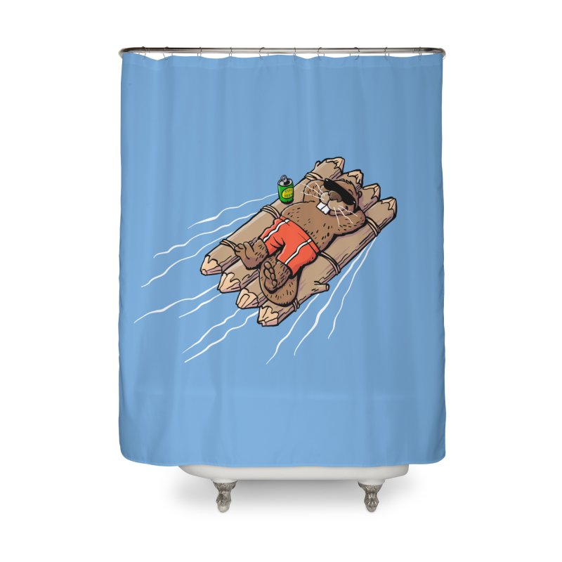 Beavacation Home Shower Curtain by Freehand