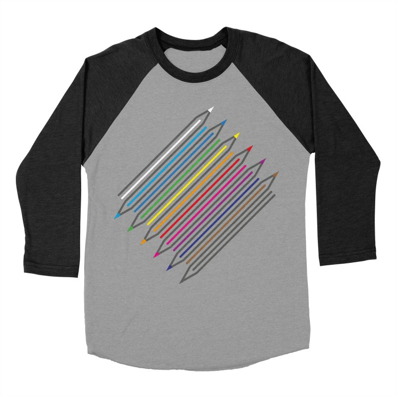 Pencil Collection Women's Baseball Triblend Longsleeve T-Shirt by Freehand