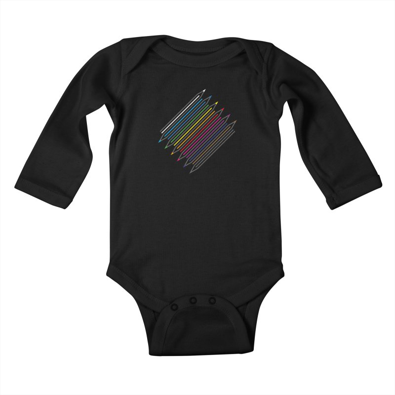 Pencil Collection Kids Baby Longsleeve Bodysuit by Freehand