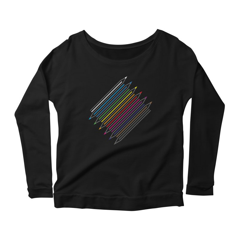 Pencil Collection Women's Scoop Neck Longsleeve T-Shirt by Freehand